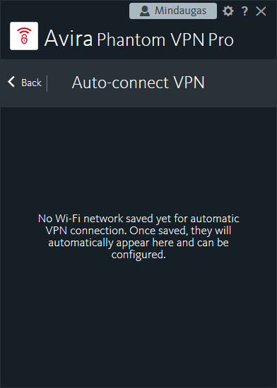 automatic vpn connection screenshot