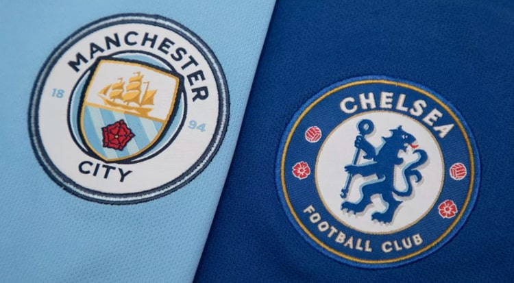 Manchester CIty and Chelsea logos