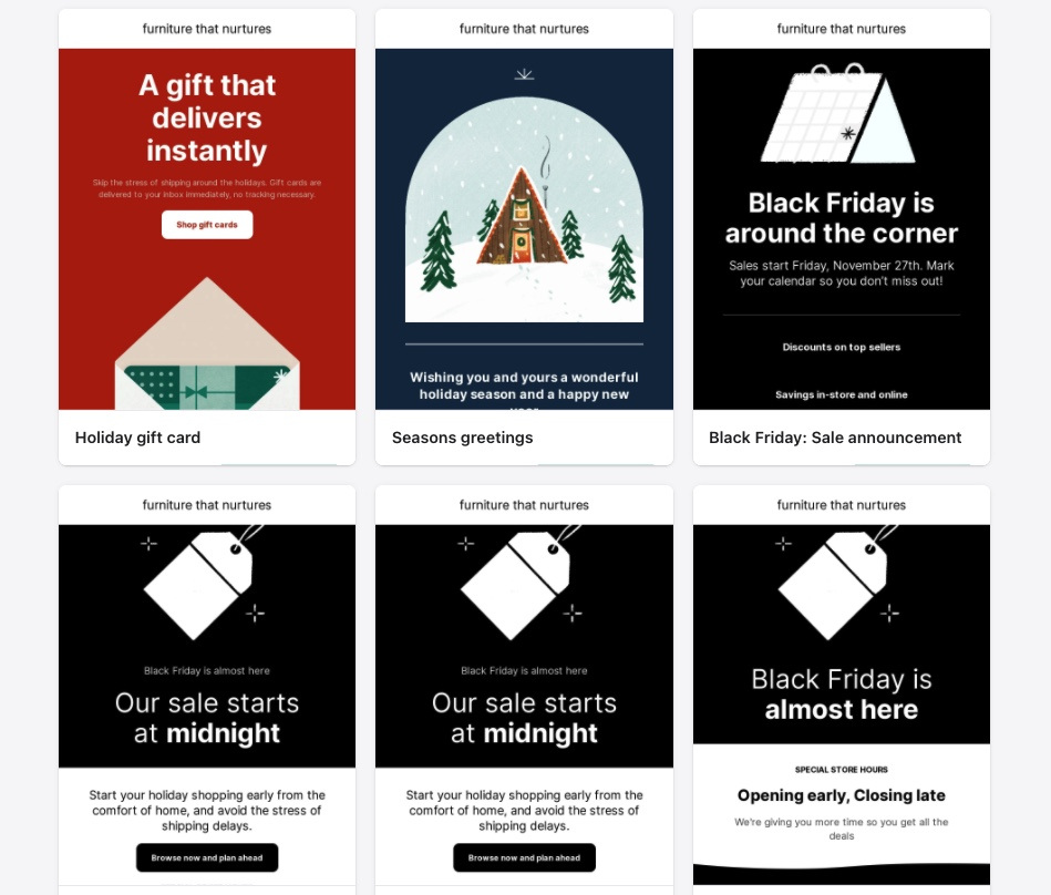 shopify email marketing templates
