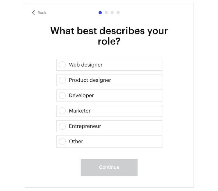 setting up webflow questionnaire