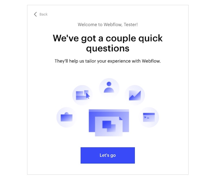 webflow getting started