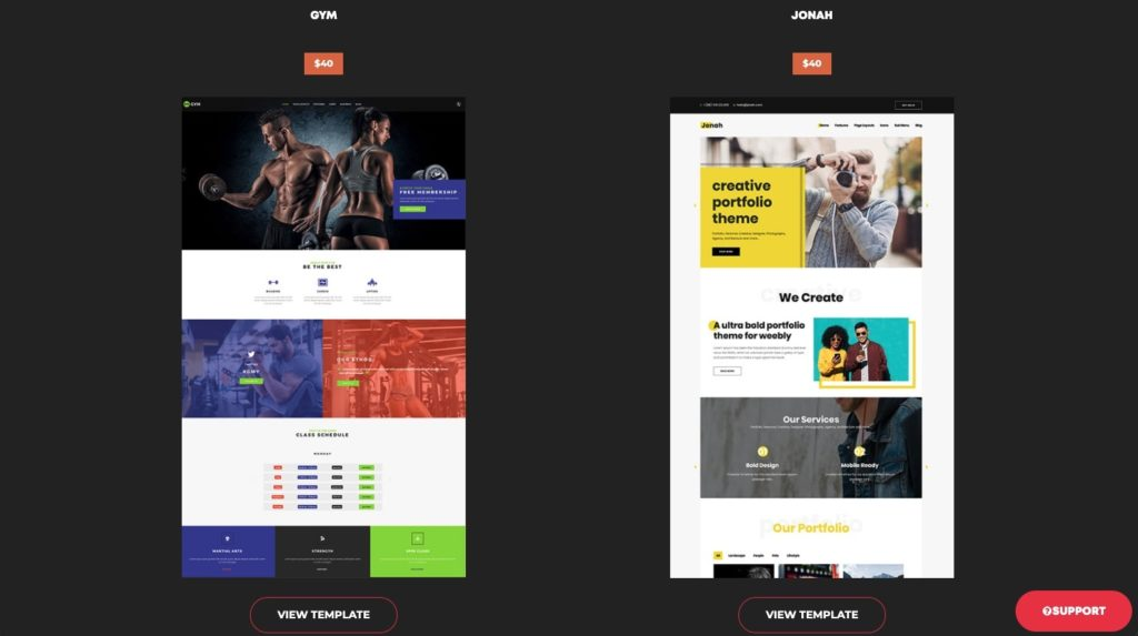weebly third party templates