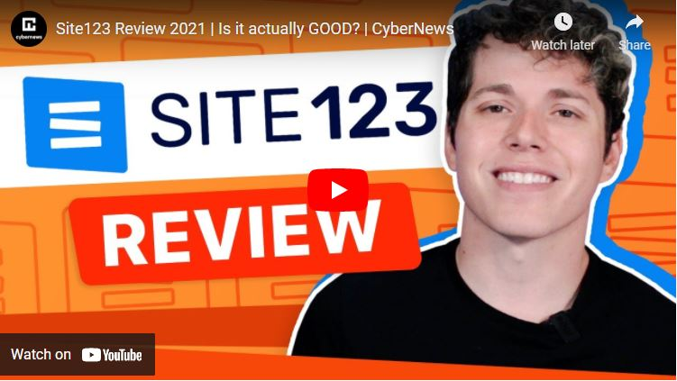 SITE123 video review