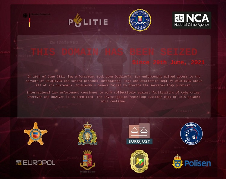, Service linked to ransomware cartels, DoubleVPN, has its servers seized by Europol, The Cyber Post