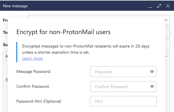 encryption for non-protonmail users