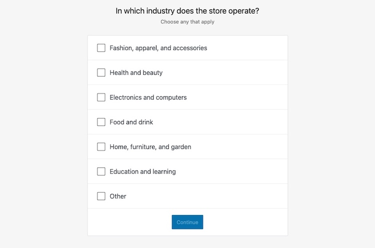 woocommerce industry of store