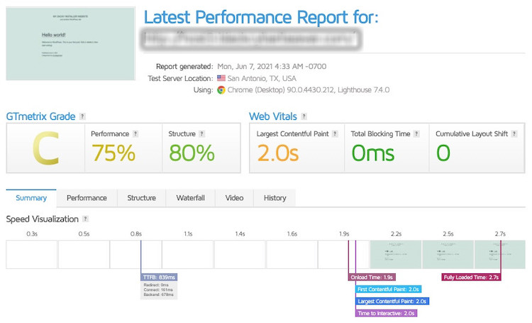 wordpress performance difference with a different hosting provider