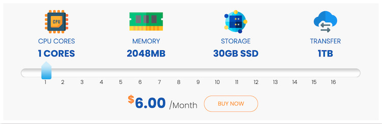InterServer VPS pricing