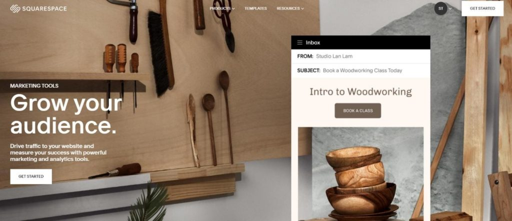 squarespace marketing feature grow your audience
