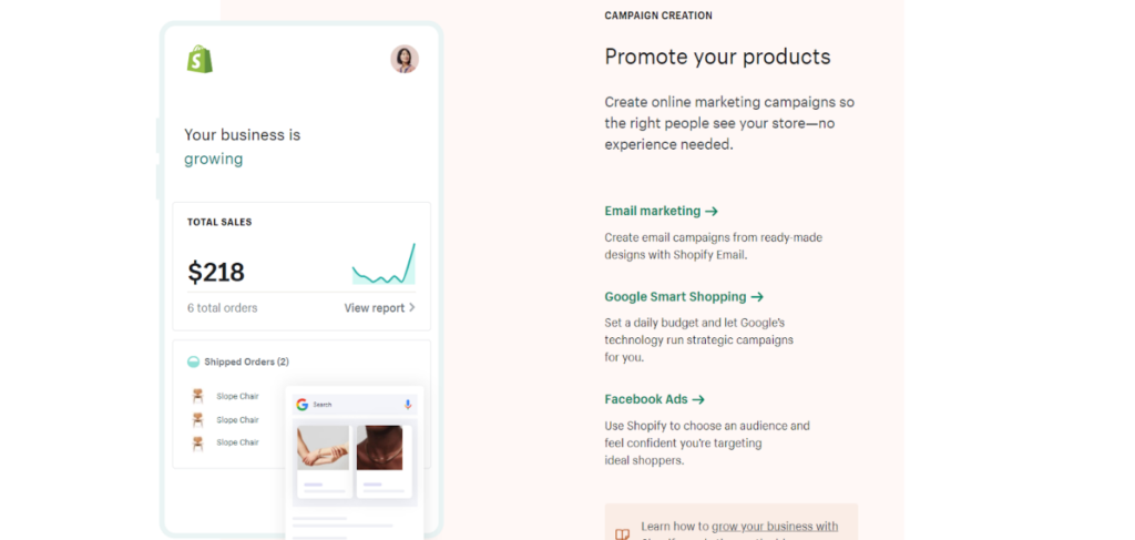 shopify product promotion