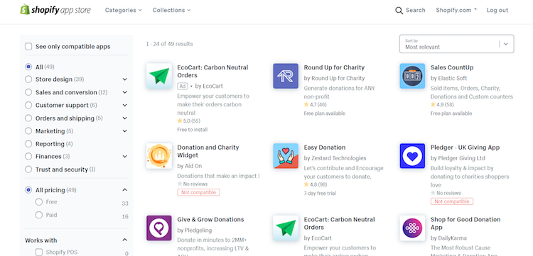 shopify apps for nonprofits