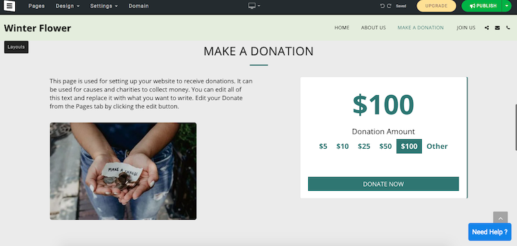 site123 donations