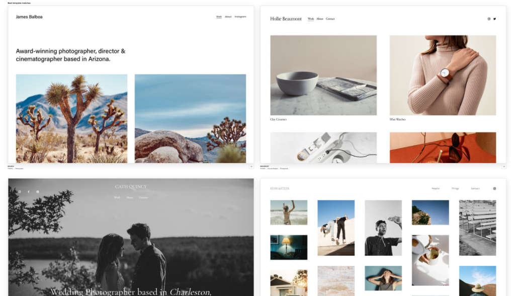 squarespace templates for photographers 2