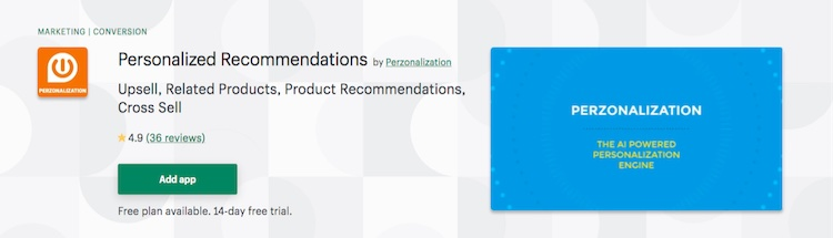 Personalization Personalized Recommendations Shopify app